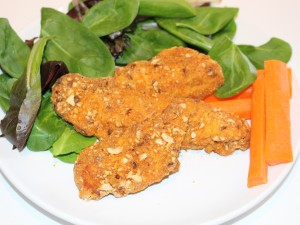 Almond crusted chicken fingers
