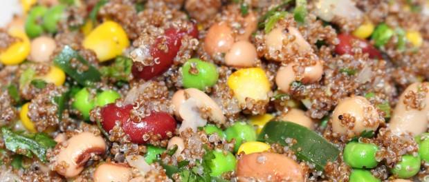 Kaniwa six bean medley salad