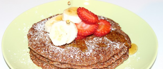 Teff oatmeal pancakes
