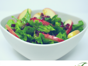 Pomegranate and red apple salad